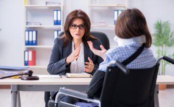 Injured Employee Talking to Lawyer