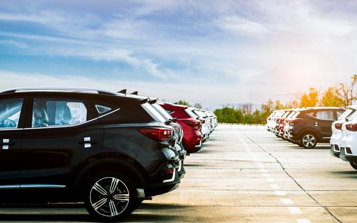 New Vehicles Car Dealer Lot