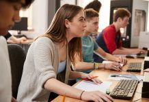 Students Learning Programming Language