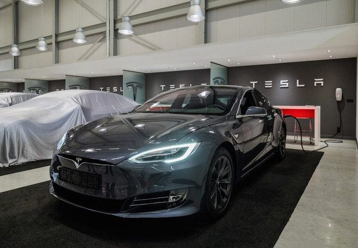 Tesla Model S in a Factory