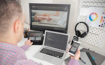 Developer Working On Responsive Design Project