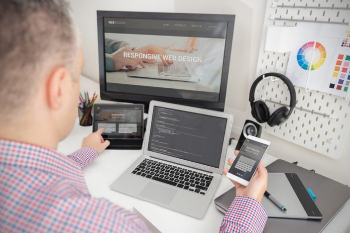 Developer Working On Responsive Design Project