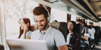 Laptop & Headphones Travel Gadgets