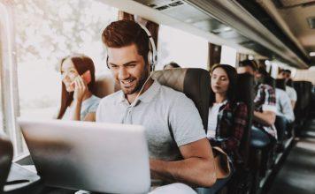 Laptop & Headphones Travel Gadgets