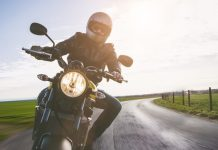 Motorcycle Riding in Open Road