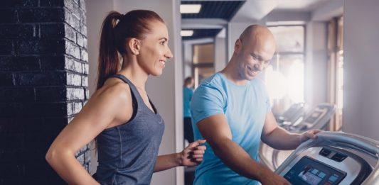 Woman Working Out Personal Trainer