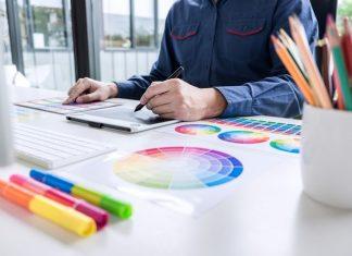 Graphic Designer Picking Colors for New Design