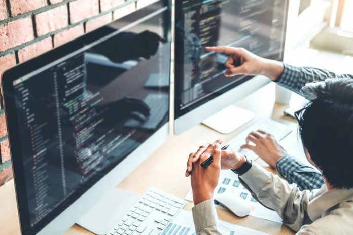 Software Developer Writing Code